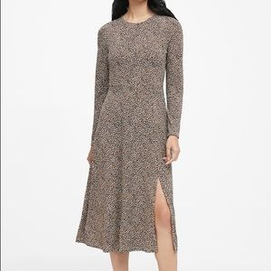Banana Republic Fit and Flare Dress | M | Leopard